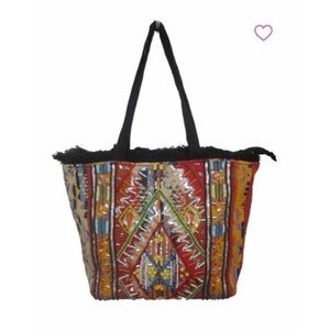 Sam Edelman Safire Tribal Embroidered handbag